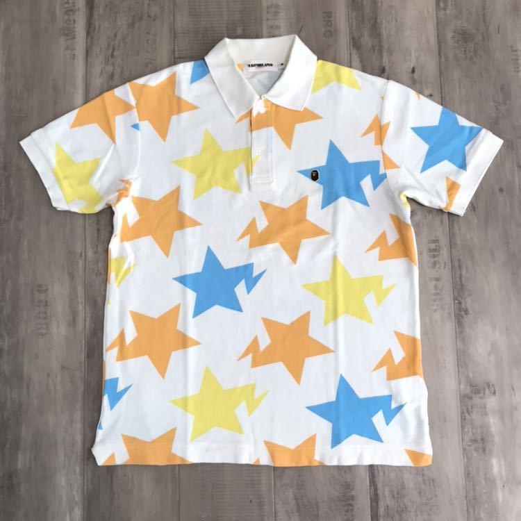 ★札幌限定★ sapporo limited star ポロシャツ Mサイズ a bathing ape bape エイプ ベイプ スター アベイシングエイプ bapesta 都市限定