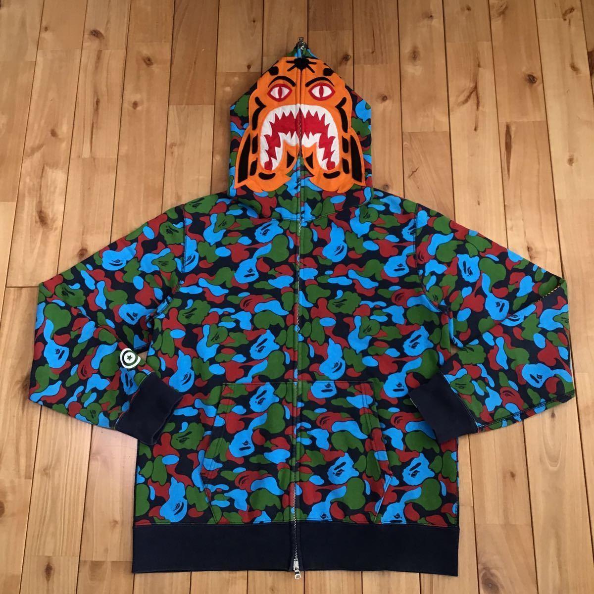 ★シンガポール限定★ Singapore city camo タイガー パーカー Lサイズ a bathing ape bape tiger full zip hoodie エイプ ベイプ 迷彩