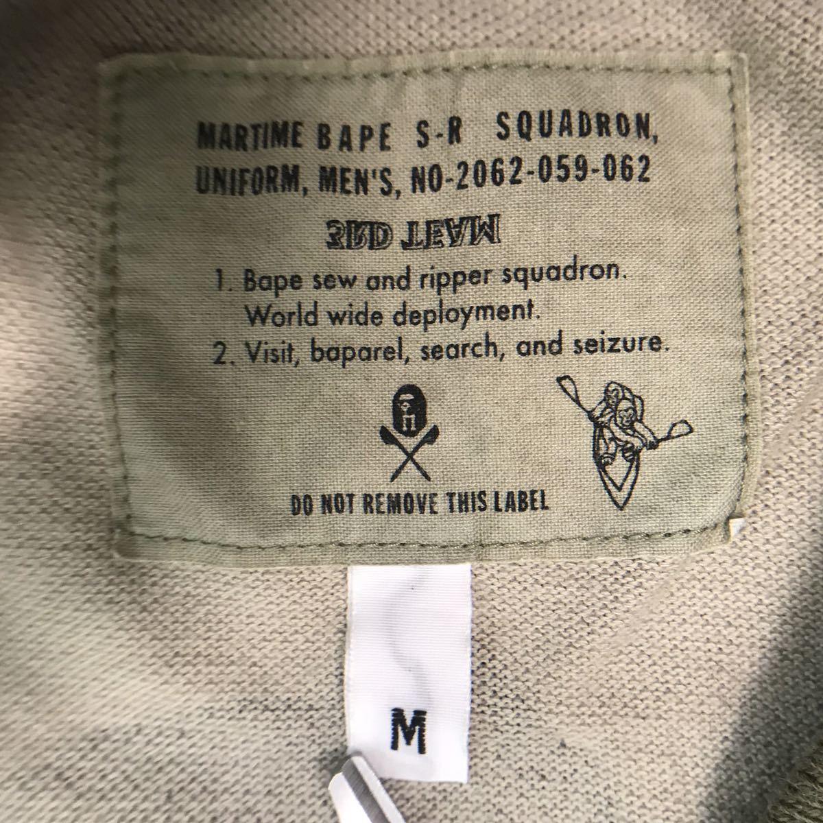 woodland camo ポロシャツ Mサイズ a bathing ape bape エイプ ベイプ アベイシングエイプ 迷彩 polo shirt ウッドランドカモ 1413