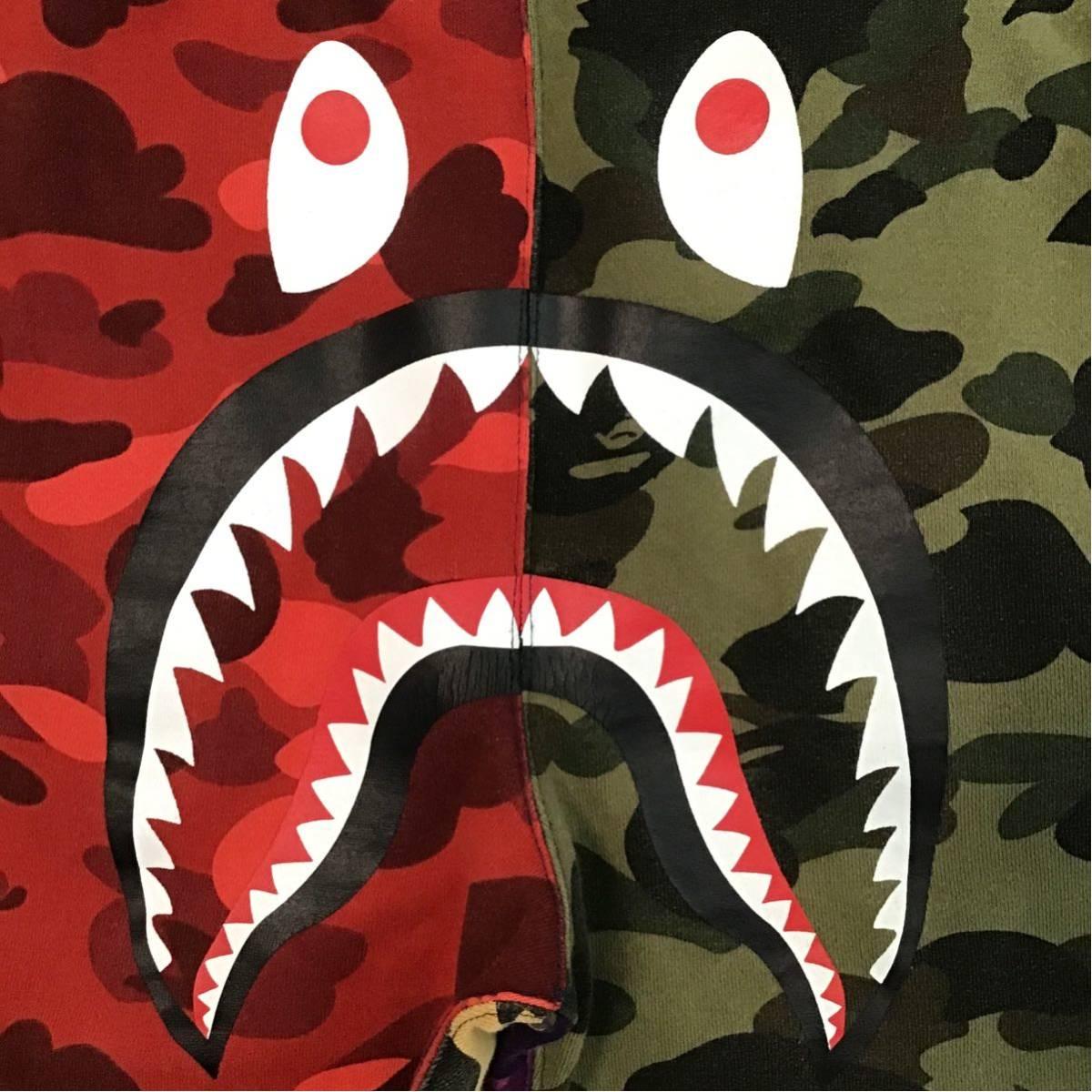 mix camo シャーク スウェットパンツ Mサイズ a bathing ape BAPE shark sweat pants エイプ ベイプ アベイシングエイプ crazy 迷彩 tgi52