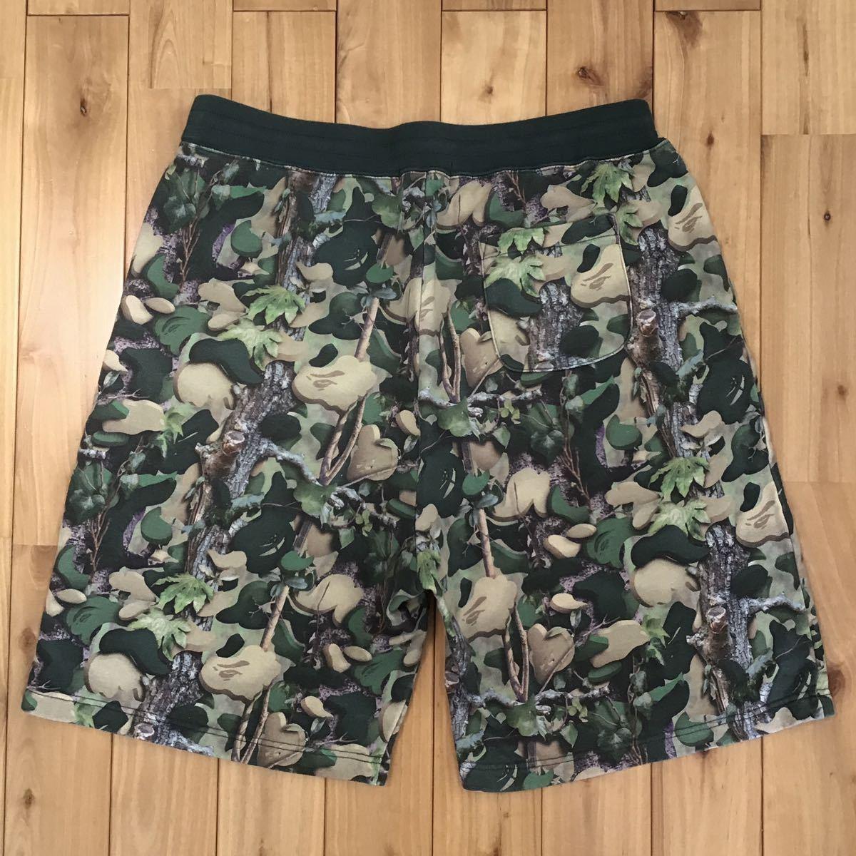 village camo スウェット ハーフパンツ Mサイズ a bathing ape bape shorts pants ショーツ エイプ ベイプ アベイシングエイプ 迷彩 6956