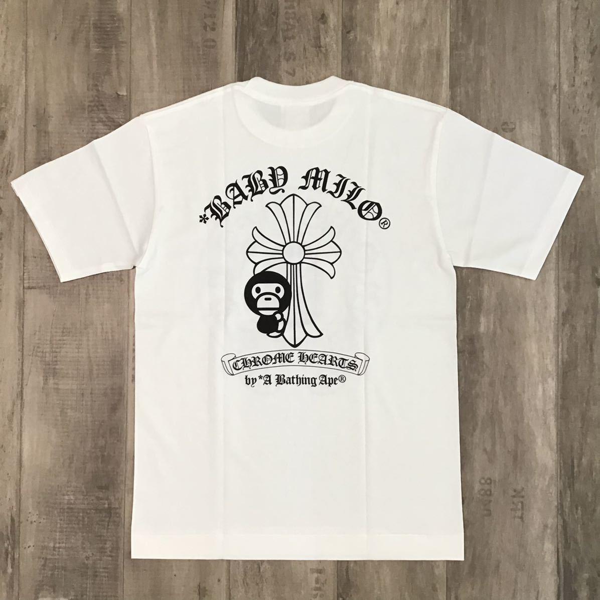 ★新品★ クロムハーツ × bape Tシャツ Sサイズ a bathing ape Chrome Hearts エイプ ベイプ アベイシングエイプ milo マイロ nigo ch82