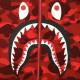 ★リアルジップ★ シャーク 長袖 スウェット Sサイズ a bathing ape BAPE zip shark sweat エイプ ベイプ トレーナー red camo 迷彩 8987