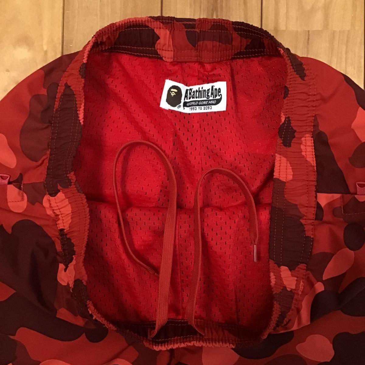 Red camo シャーク ハーフパンツ Lサイズ a bathing ape BAPE side shark shorts ショーツ エイプ ベイプ アベイシングエイプ 迷彩 25dy