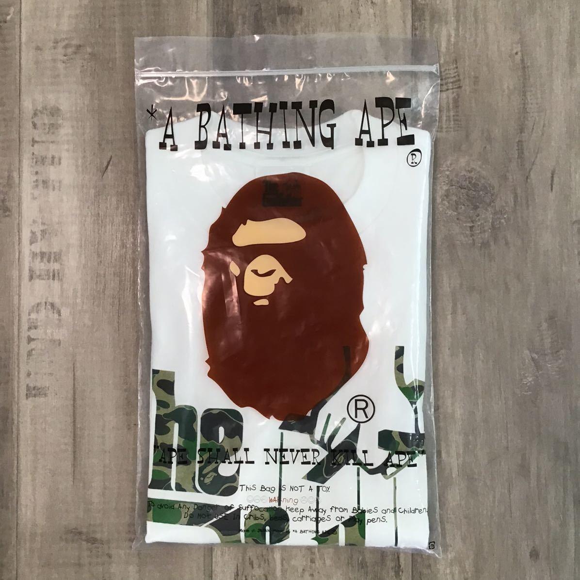 ★新品★ Godfather × bape Tシャツ Lサイズ a bathing ape ゴッドファーザー エイプ ベイプ アベイシングエイプ ABC camo green rp5