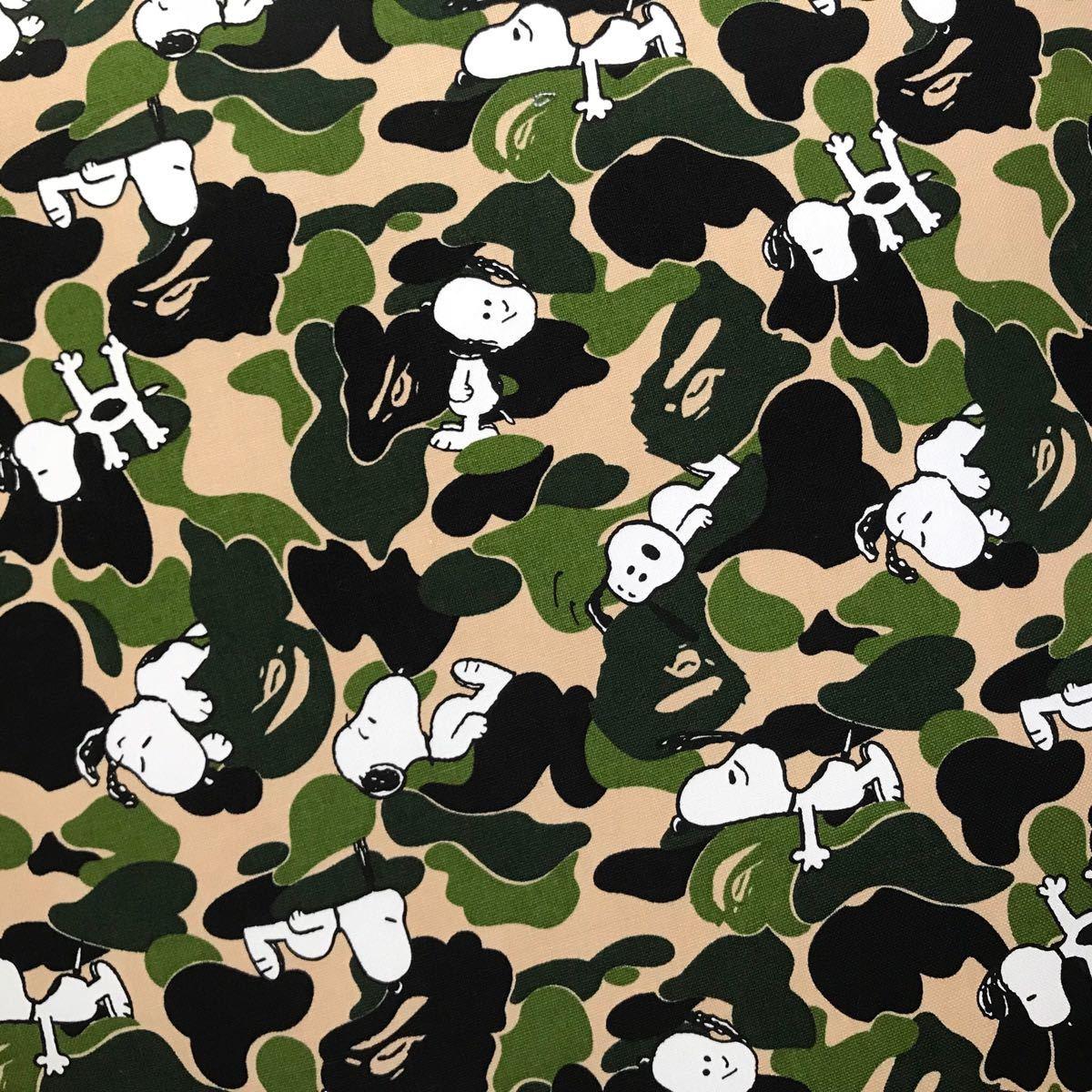 ★新品★ スヌーピー ABC camo big cushion a bathing ape BAPE ビッグ クッション ABCカモ エイプ ベイプ snoopy peanuts ピーナッツ 迷彩