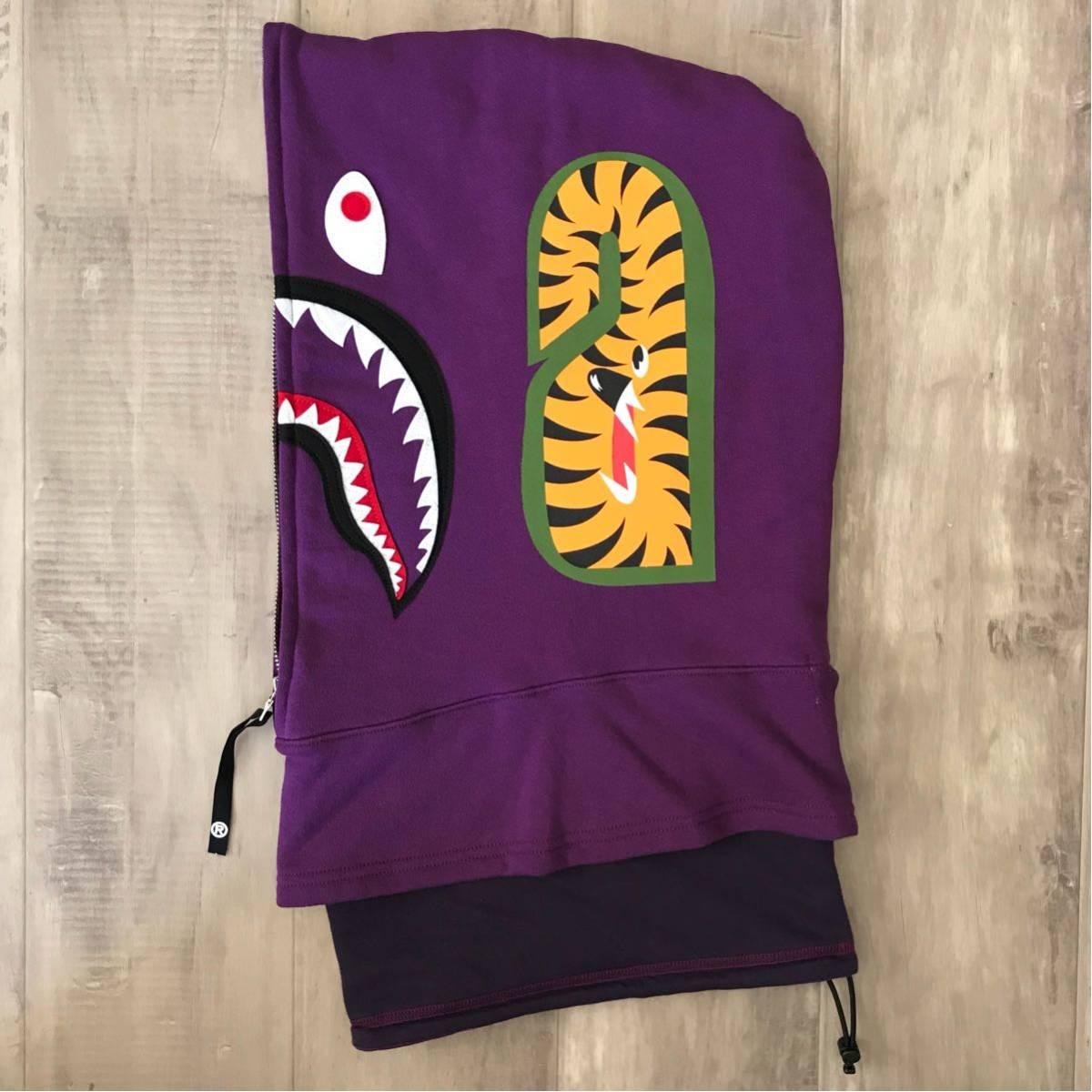 shark hoodie ネックウォーマー purple color camo a bathing ape bape シャーク パーカー face mask フェイスマスク エイプ ベイプ 紫