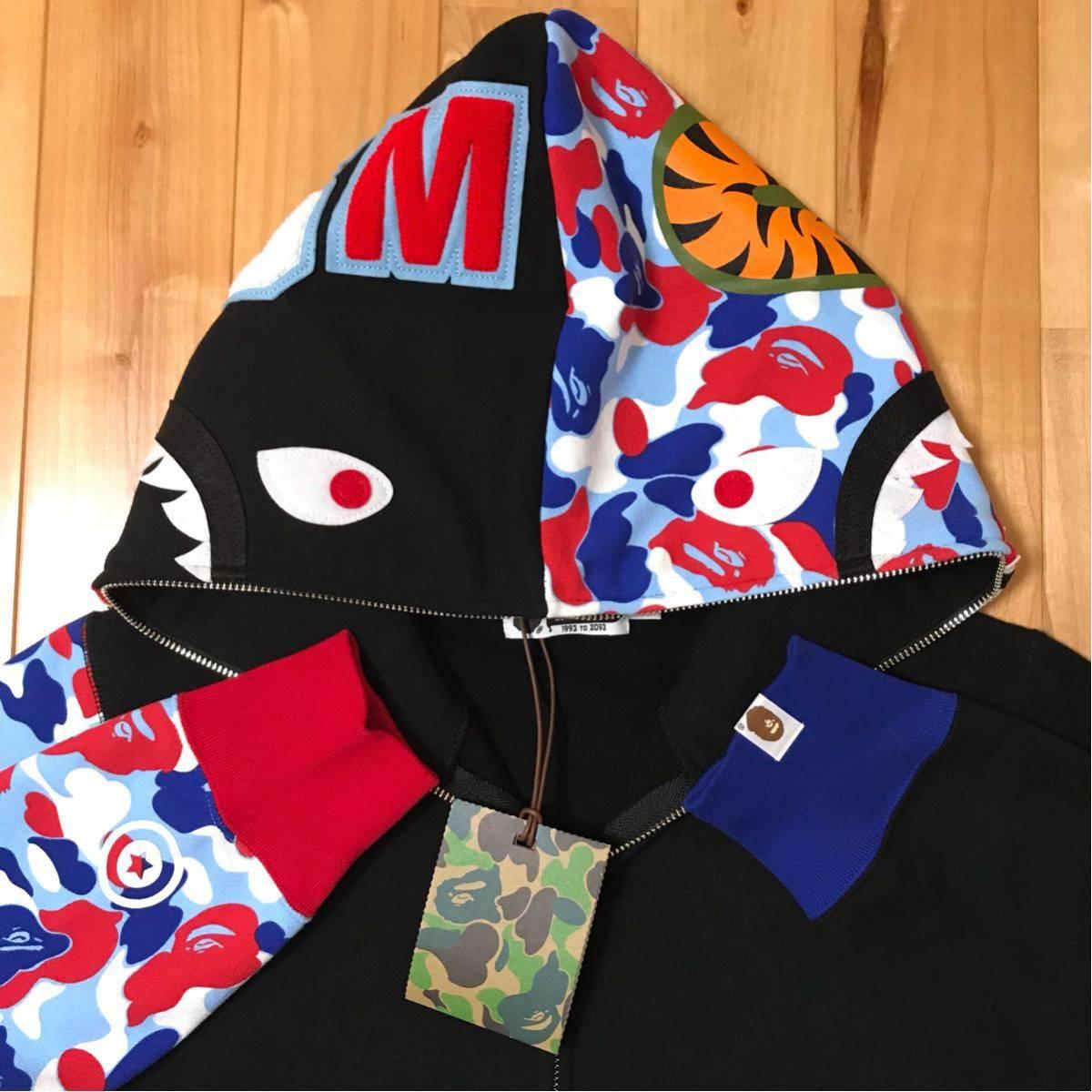 ★激レア★ パリ オープン記念 シャーク パーカー shark full zip hoodie a bathing ape BAPE STORE paris エイプ ベイプ color camo