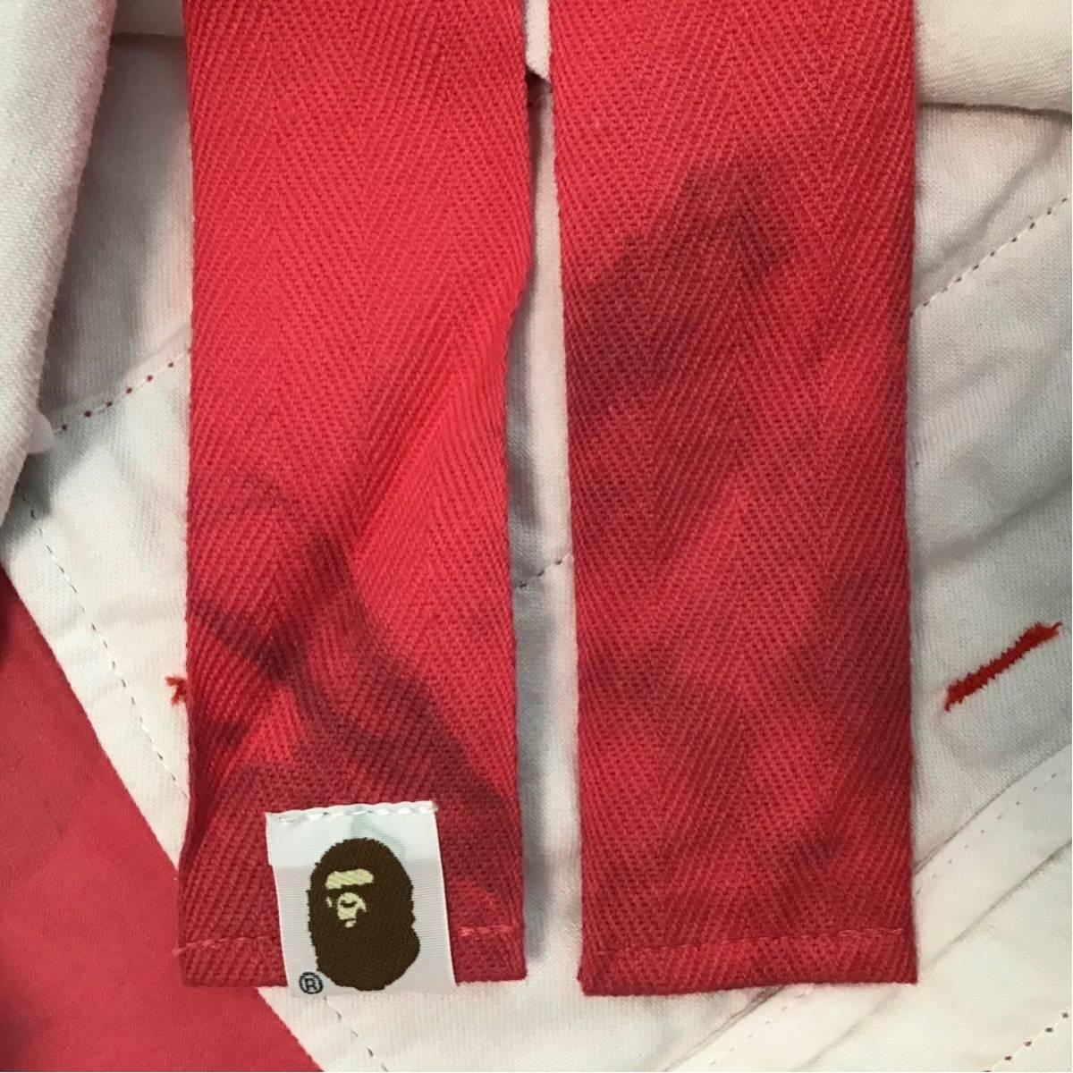 pharrell camo カーゴ ハーフパンツ Lサイズ a bathing ape BAPE shorts エイプ ベイプ アベイシングエイプ red camo 迷彩 7dt