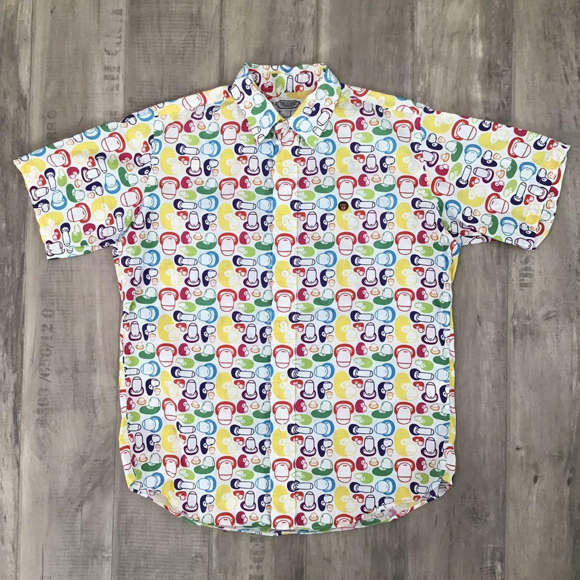 MILO multi camo 半袖シャツ Sサイズ a bathing ape bape エイプ ベイプ アベイシングエイプ マイロ 迷彩 nigo マルチカモ t8j4