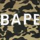 スワロフスキー 1st camo yellow 半袖 スウェット Mサイズ a bathing ape bape swarovski ラインストーン エイプ ベイプ 迷彩 088j
