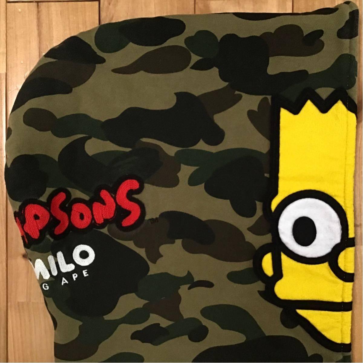 ★XL★ THE SIMPSONS × BAPE BART full zip hoodie a bathing ape baby milo マイロ シンプソンズ パーカー エイプ ベイプ 1st camo mf3