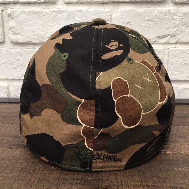 ★激レア★ kaws 1st camo trucker hat a bathing ape bape bendy cap エイプ ベイプ アベイシングエイプ カウズ キャップ 迷彩 帽子