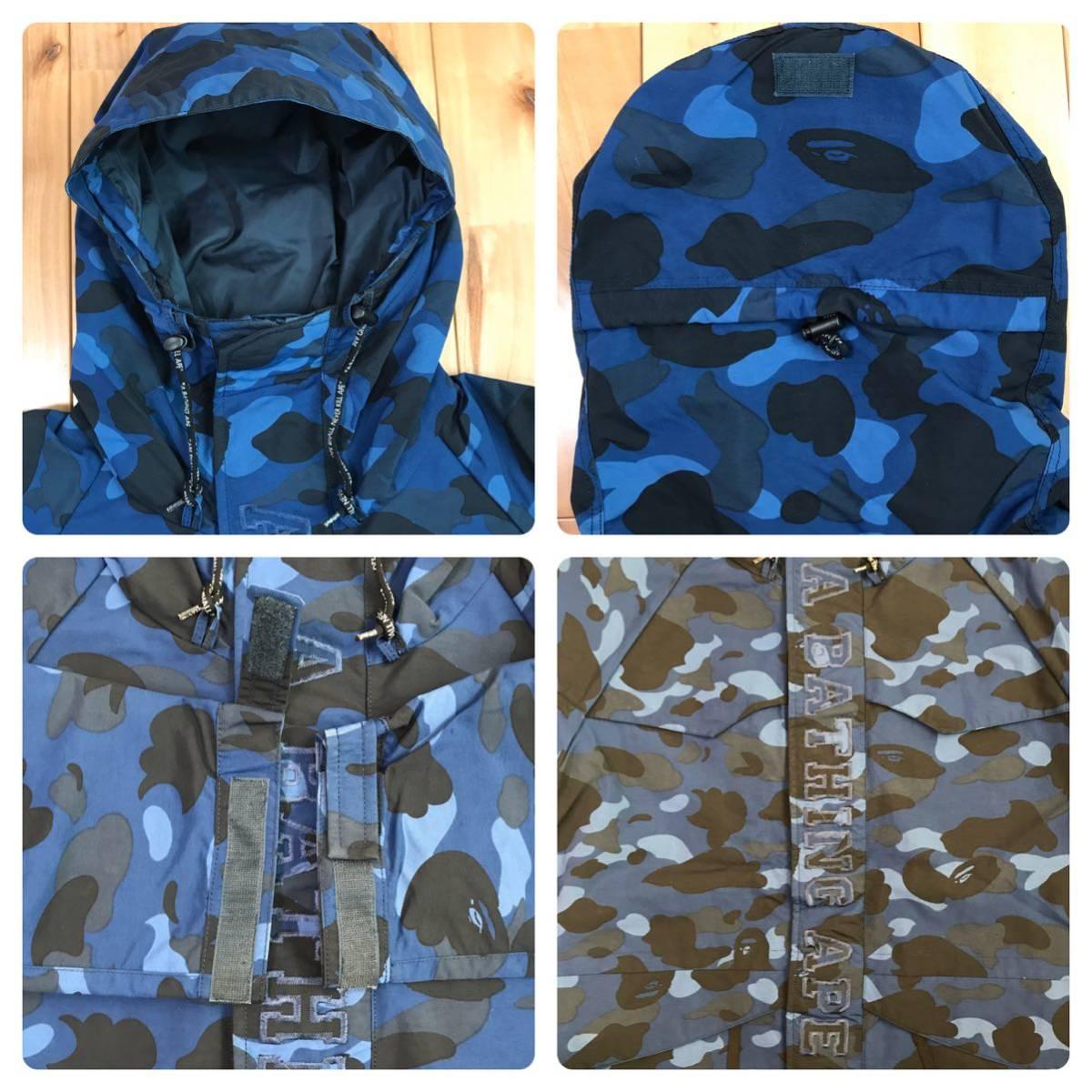 blue camo スノボジャケット Sサイズ a bathing ape BAPE snowboard jacket エイプ ベイプ アベイシングエイプ 迷彩 ブルーカモ 6852