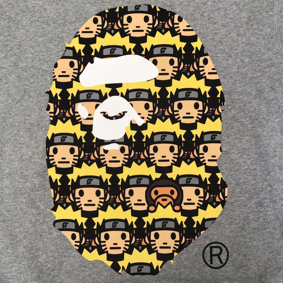 ★激レア★ NARUTO × BAPE ape head 長袖スウェット Mサイズ a bathing ape baby milo ナルト エイプ ベイプ アベイシングエイプ マイロ