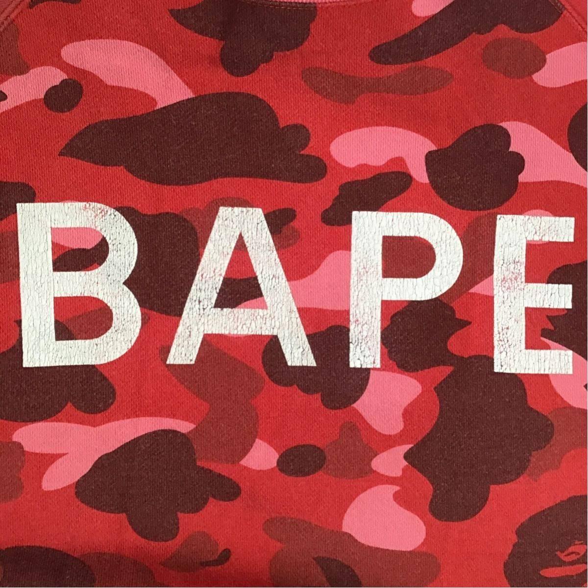 pharrell camo crazy 長袖 スウェット Sサイズ a bathing ape bape sweat エイプ ベイプ アベイシングエイプ クレイジー red camo 迷彩 909