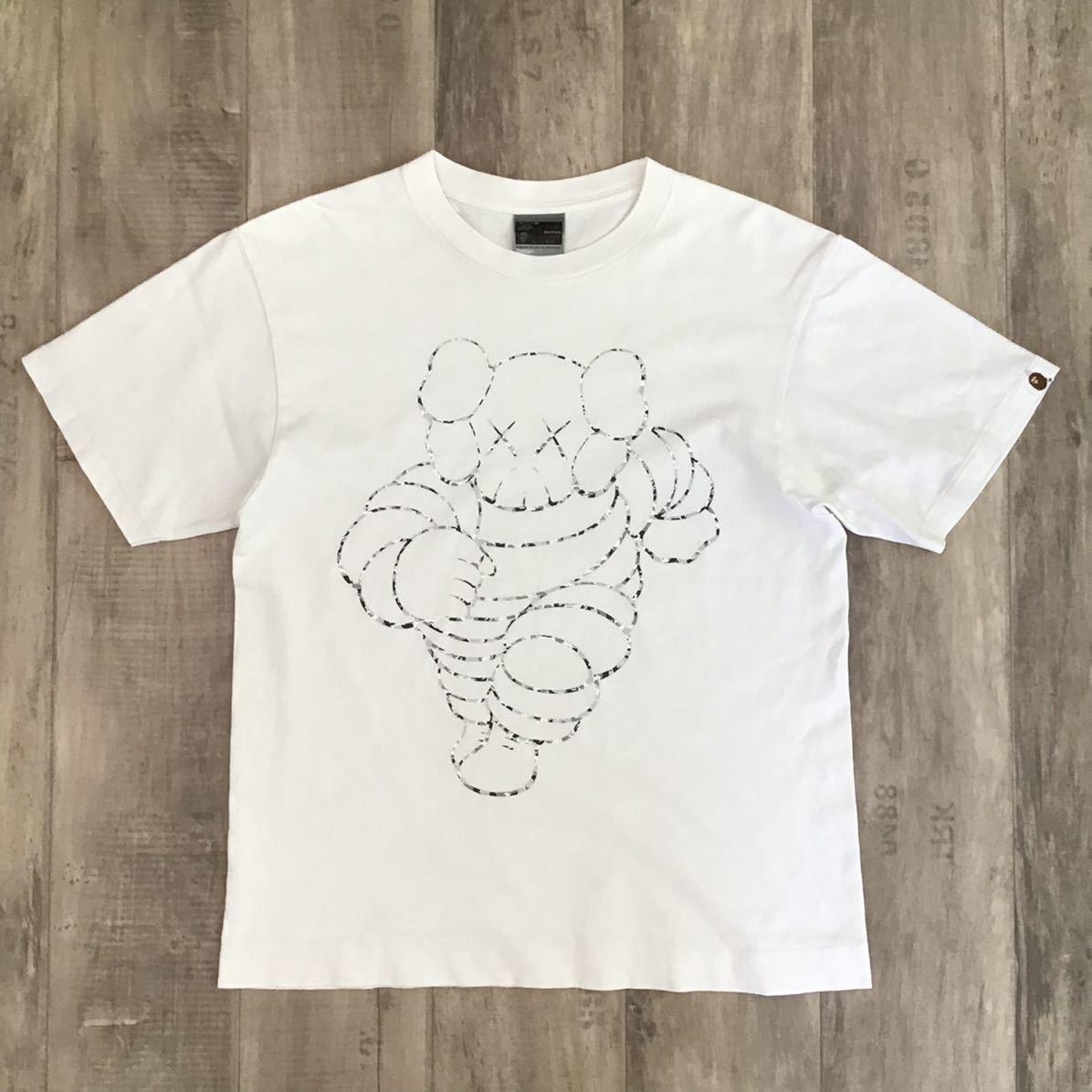 ★激レア★ kaws × bape chum Tシャツ Mサイズ a bathing ape ミシュランマン Michelin カウズ エイプ ベイプ nigo ABC camo 迷彩 jg4