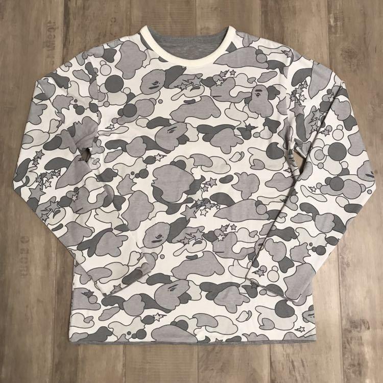 ★リバーシブル★ sta camo ロンT Mサイズ a bathing ape bape エイプ ベイプ アベイシングエイプ psyche サイケ 迷彩 Tシャツ 長袖 nigo