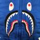 SHARK スカジャン Lサイズ bomber jacket a bathing ape BAPE エイプ ベイプ アベイシングエイプ ジャケット スタジャン varsity WGM 6853