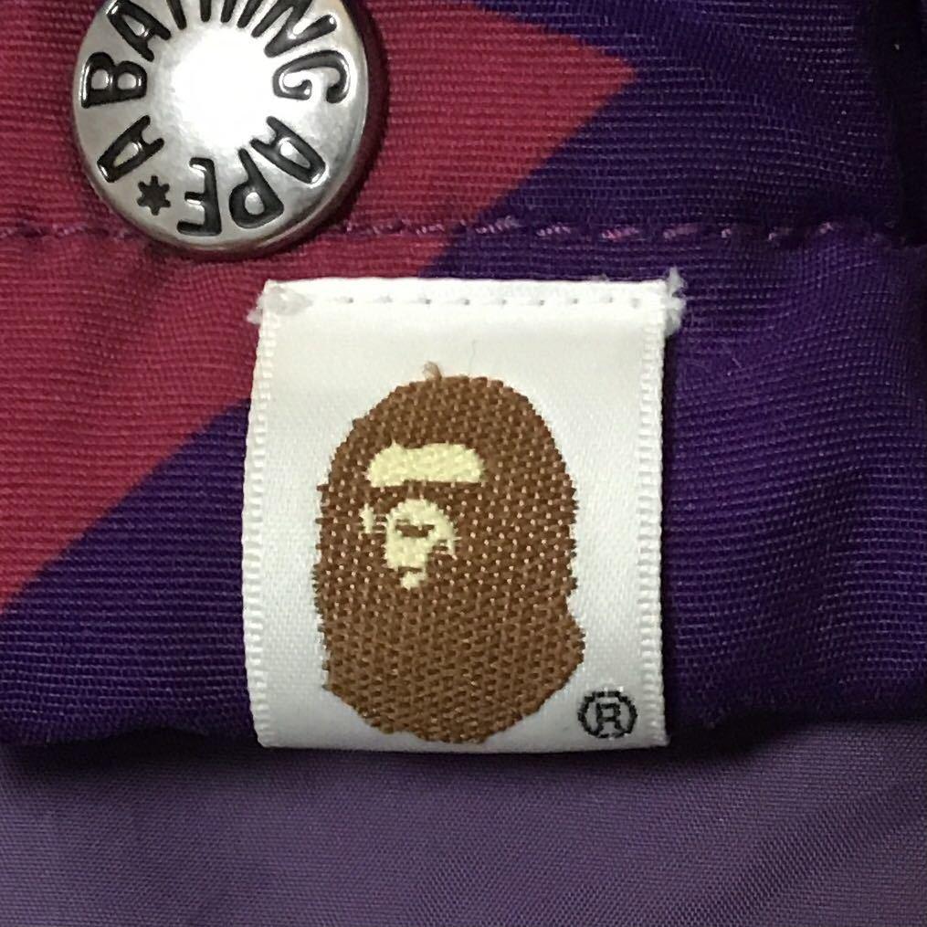 ダウンベスト giant purple camo Lサイズ a bathing ape BAPE エイプ ベイプ アベイシングエイプ zoom down vest パープルカモ 迷彩 3215