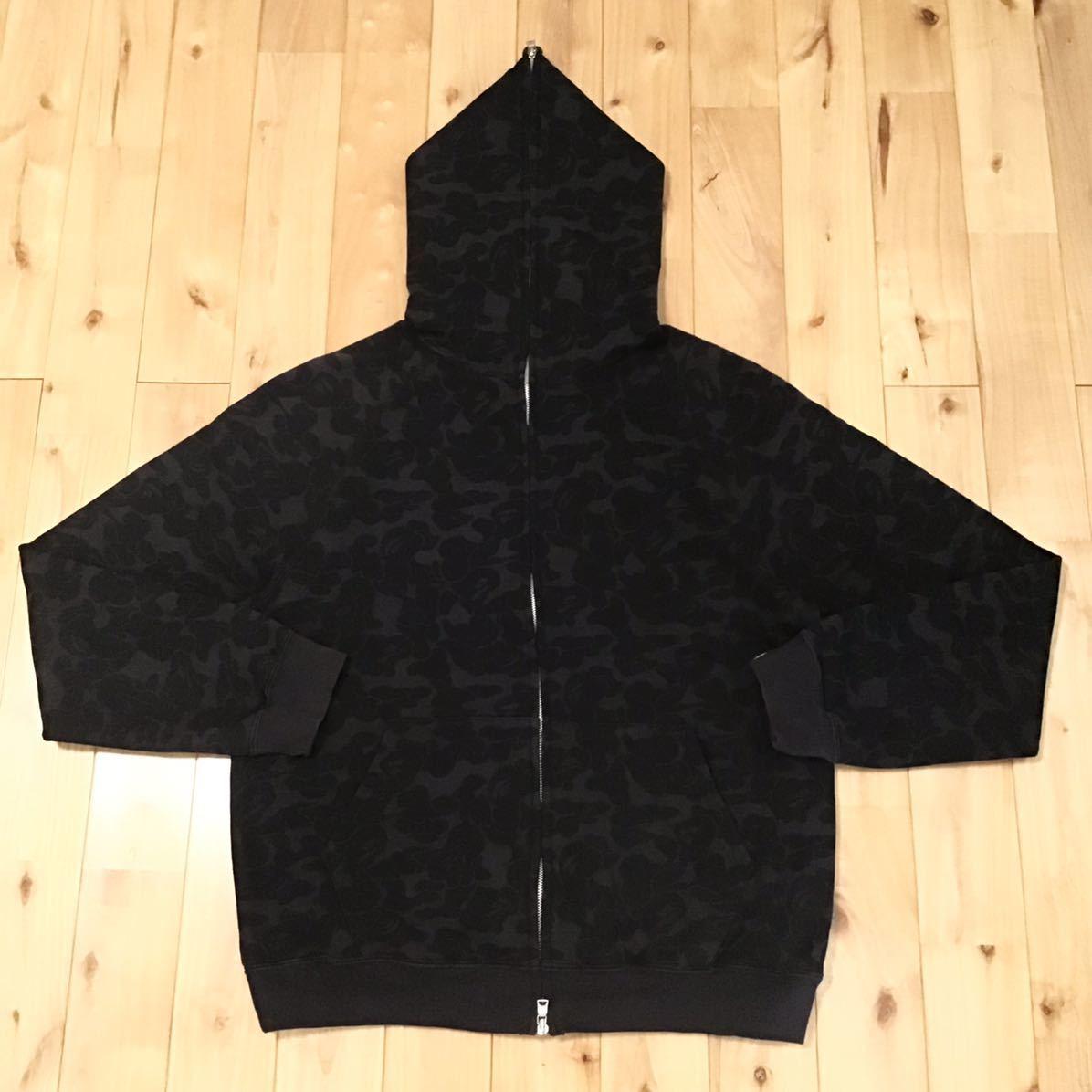 Solid camo フルジップ パーカー Mサイズ a bathing ape BAPE full zip hoodie エイプ ベイプ アベイシングエイプ ソリッドカモ 迷彩 6qq
