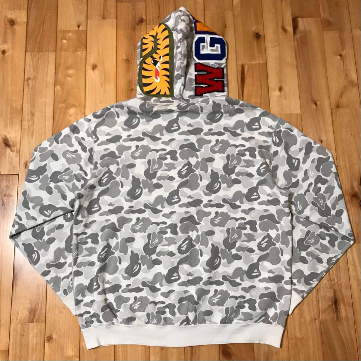 ★原宿限定★ harajuku store limited color camo シャーク パーカー shark full zip hoodie a bathing ape BAPE city ベイプ 都市限定