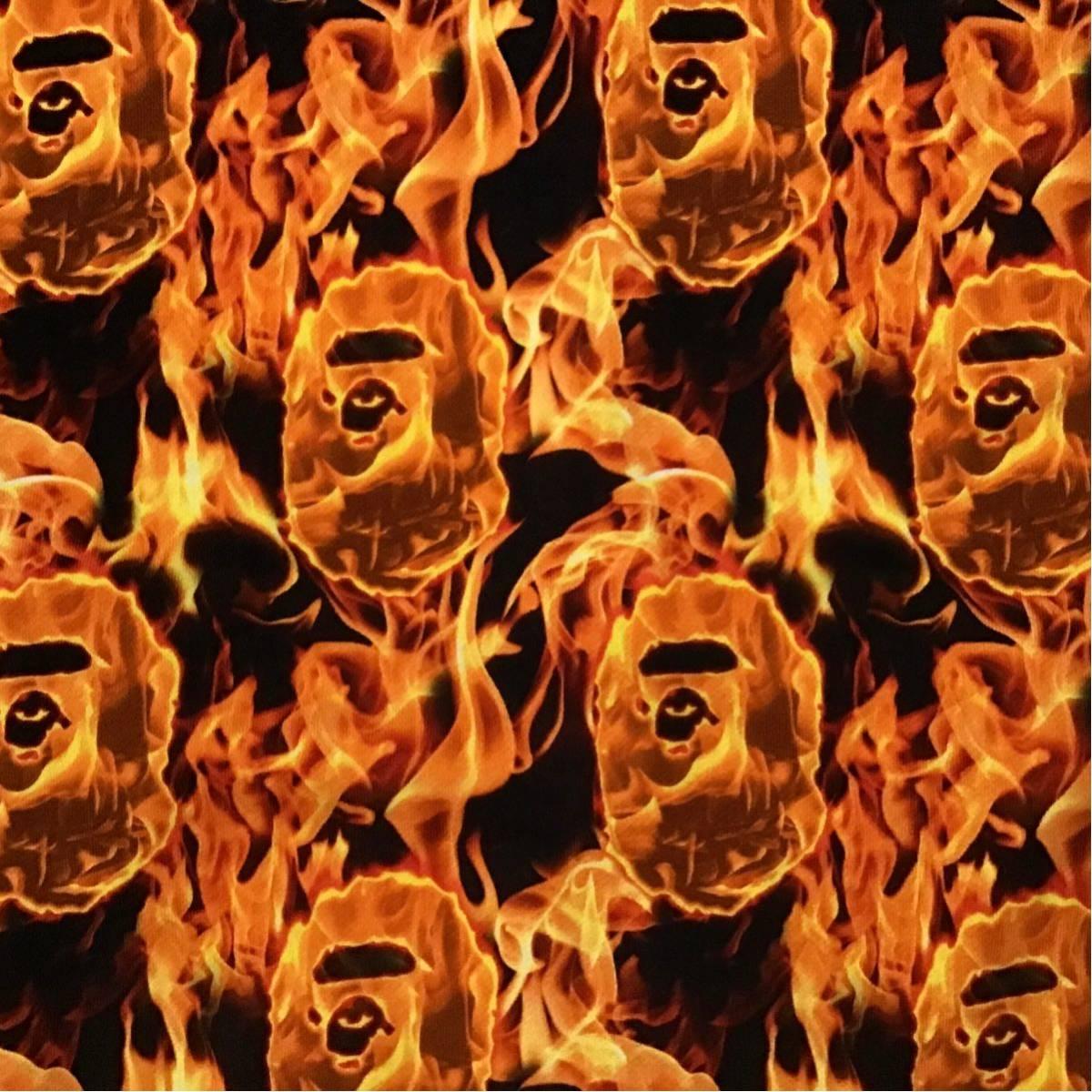 ★XL★ BAPE FLAME フルジップ パーカー a bathing ape BAPE fire full zip hoodie エイプ ベイプ アベイシングエイプ ka6