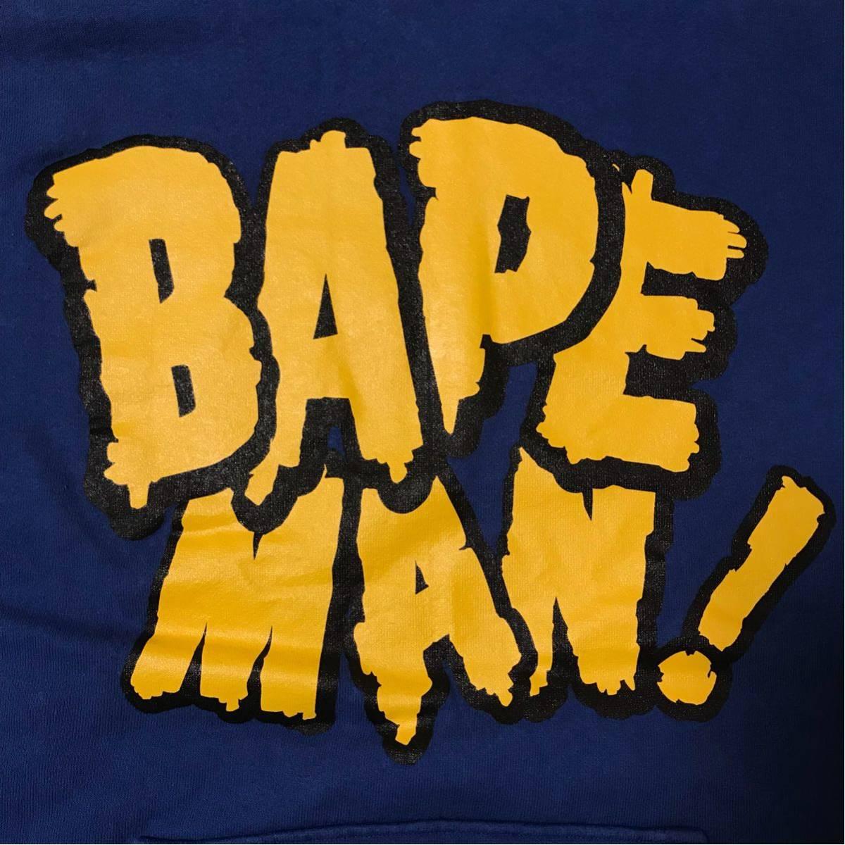★激レア★ 初期 bapeman パーカー M a bathing ape bape エイプ ベイプ shark シャーク ビンテージ 裏原宿 90s kaws futura stash nigo b
