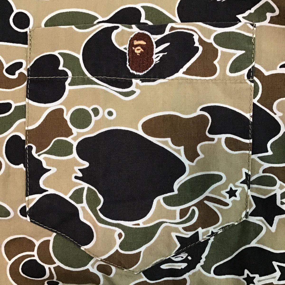 sta camo BD長袖シャツ Lサイズ a bathing ape bape エイプ ベイプ アベイシングエイプ psyche サイケ 迷彩 vintage NOWHERE 4441