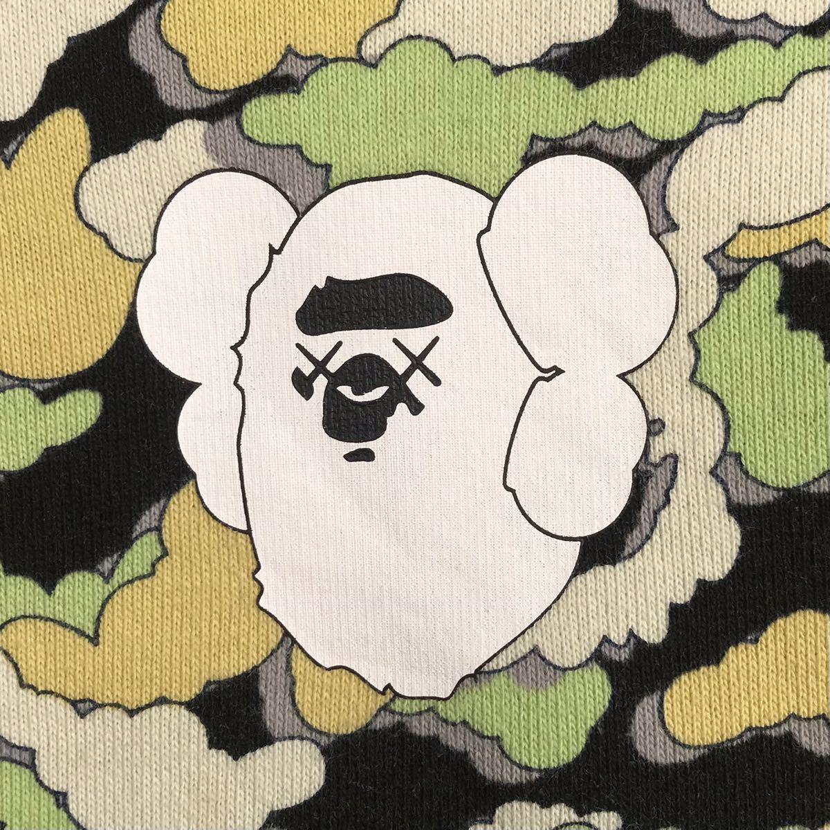 ★リバーシブル★ kaws × bape 長袖スウェット XSサイズ cloud camo a bathing ape reversible sweat エイプ ベイプ カウズ 迷彩 5533