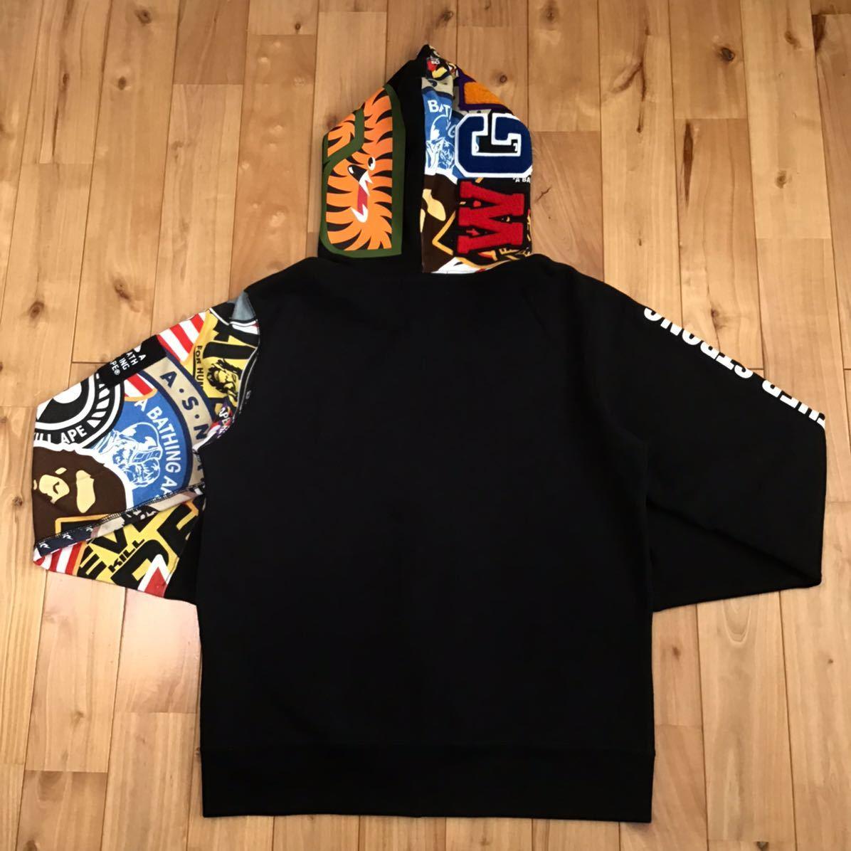 Patched シャーク パーカー Mサイズ shark full zip hoodie a bathing ape bape エイプ ベイプ アベイシングエイプ 9mo