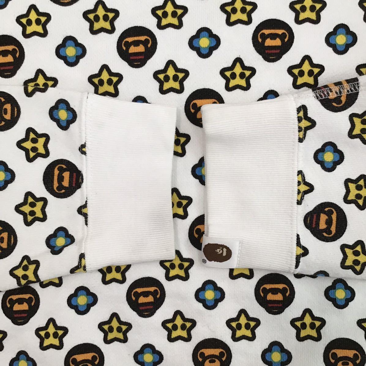 マイロ モノグラム 長袖スウェット Sサイズ a bathing ape bape baby milo Monogram sweat エイプ ベイプ アベイシングエイプ nigo 6255