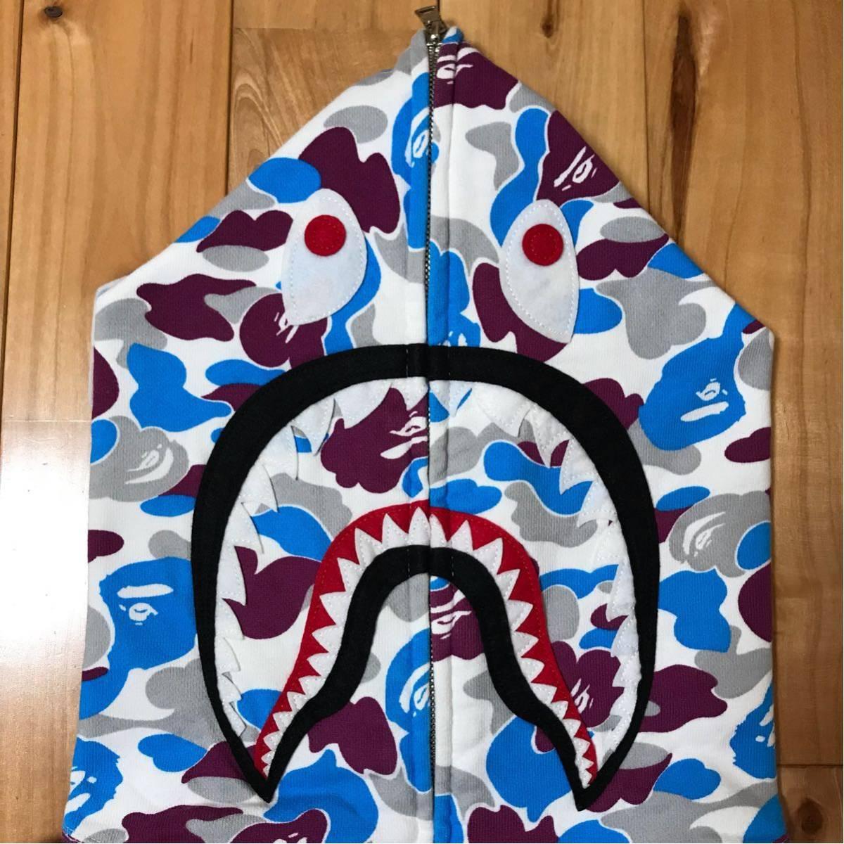★横浜限定★ yokohama store limited color camo シャーク パーカー shark full zip hoodie a bathing ape BAPE city ベイプ 都市限定