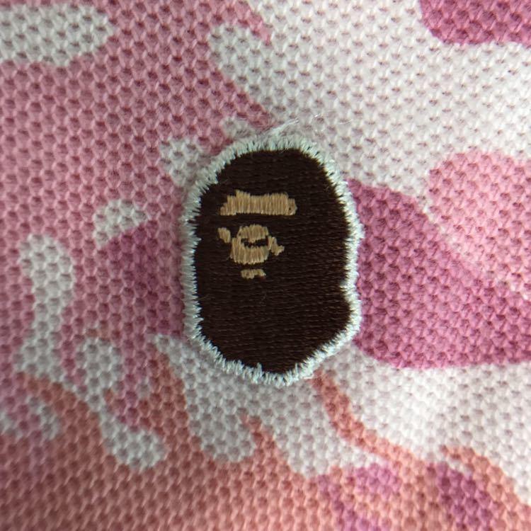 ★激レア★ fire camo ポロシャツ レディース Sサイズ a bathing ape bape エイプ ベイプ アベイシングエイプ ファイヤーカモ 迷彩 pink