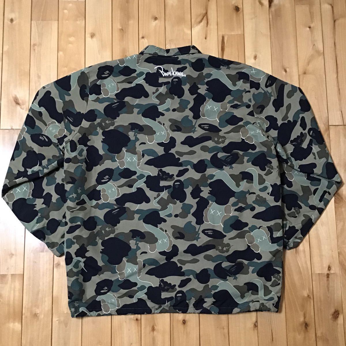★XXL★ kaws × BAPE bendy 1st camo コーチジャケット a bathing ape coach jacket エイプ ベイプ アベイシングエイプ カウズ 2XL nigo