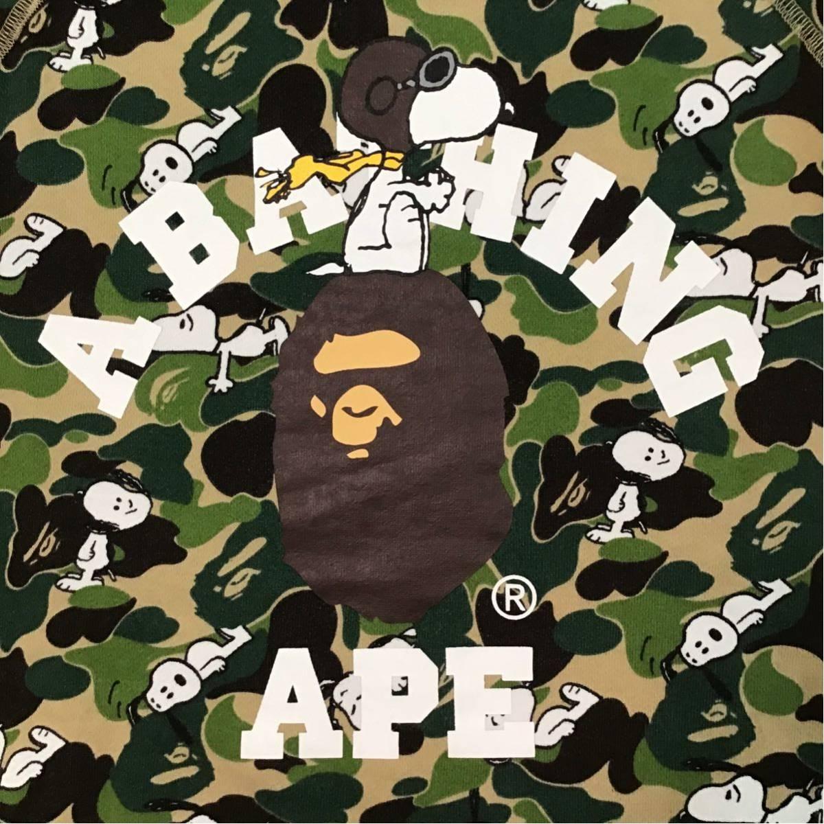 SNOOPY × BAPE ABC camo 長袖 スウェット Mサイズ a bathing ape bape スヌーピー ピーナッツ peanuts エイプ ベイプ ABCカモ 迷彩 3699