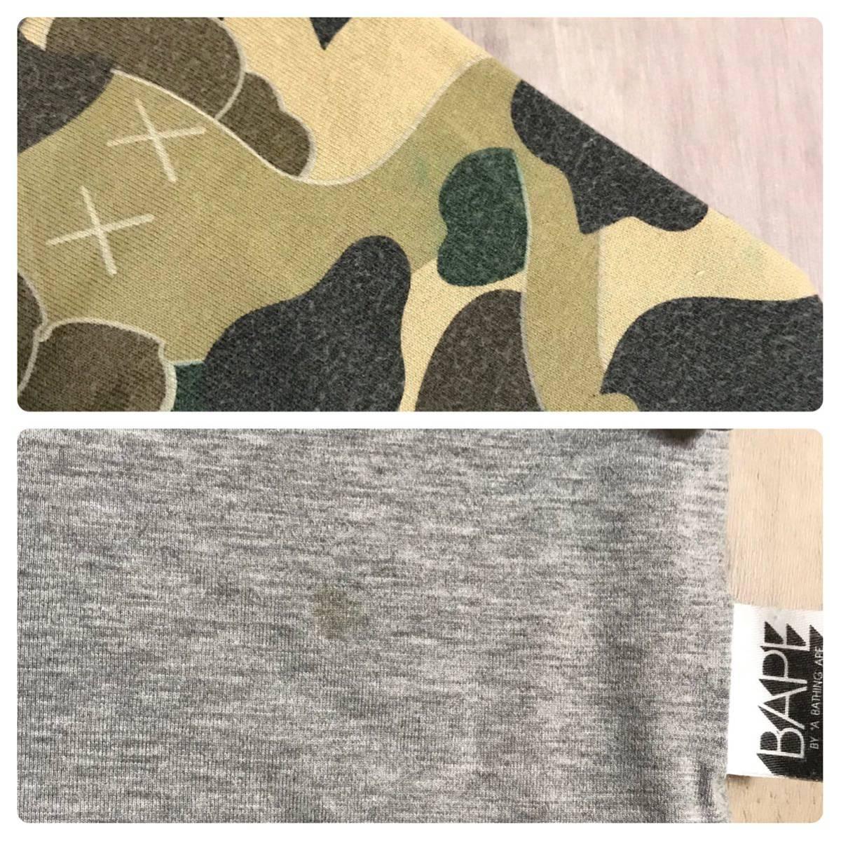 ★リバーシブル★ kaws 1st camo ロンT Mサイズ a bathing ape bape カウズ エイプ ベイプ アベイシングエイプ original fake 迷彩 Tシャツ