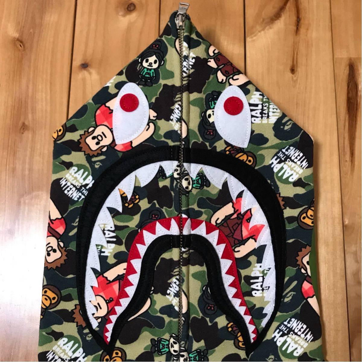★新品★ シュガー ラッシュ オンライン シャーク パーカー shark full zip hoodie a bathing ape bape Ralph Breaks the Internet ベイプ