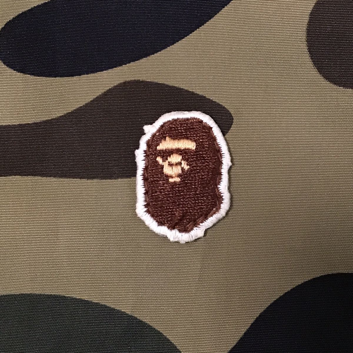 1st camo green ナイロン パーカー Mサイズ a bathing ape BAPE full zip hoodie エイプ ベイプ アベイシングエイプ 迷彩 2555