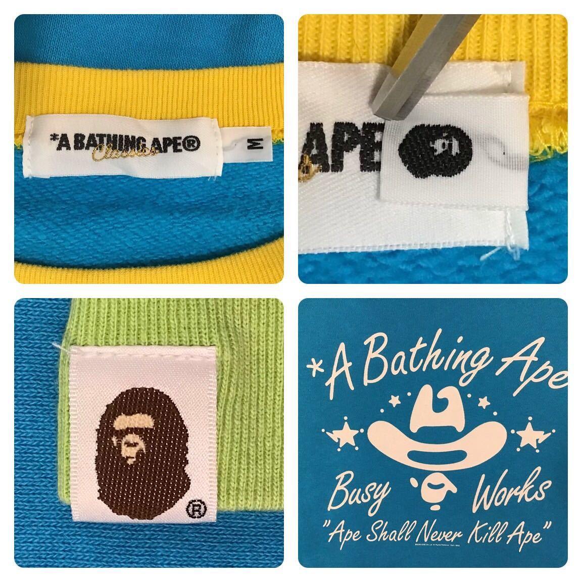 BAPE logo crazy 長袖スウェット Mサイズ a bathing ape sweat エイプ ベイプ アベイシングエイプ 3523