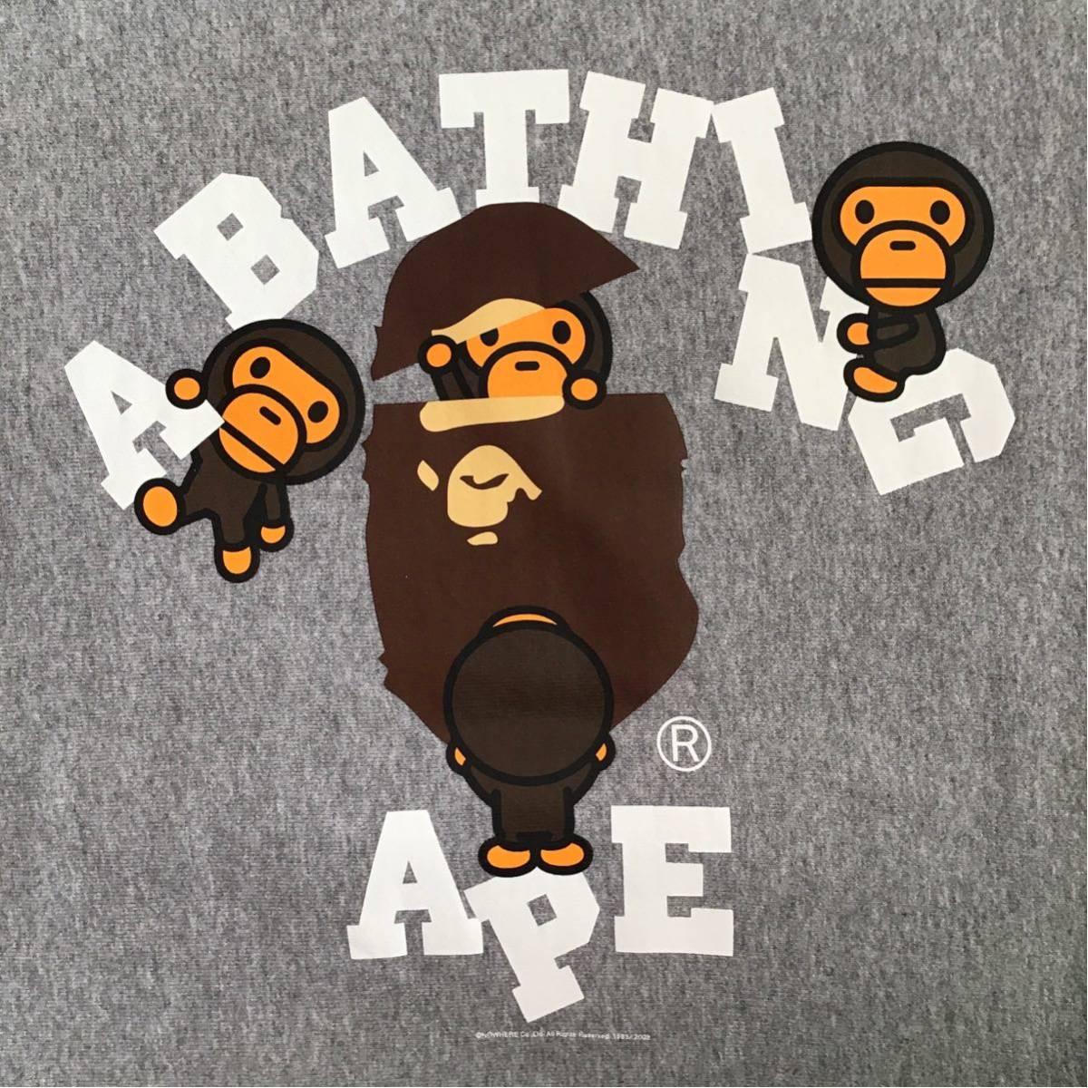 マイロ カレッジロゴ 長袖 スウェット Sサイズ a bathing ape BAPE milo college logo sweat エイプ ベイプ アベイシングエイプ