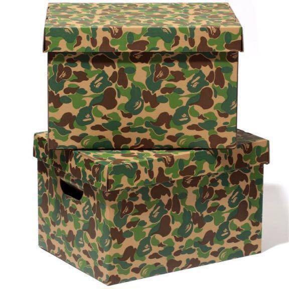 ★激レア★ ストレージ ボックス ABC camo green a bathing ape bape STORAGE BOX ABCカモ エイプ ベイプ アベイシングエイプ 迷彩 nigo