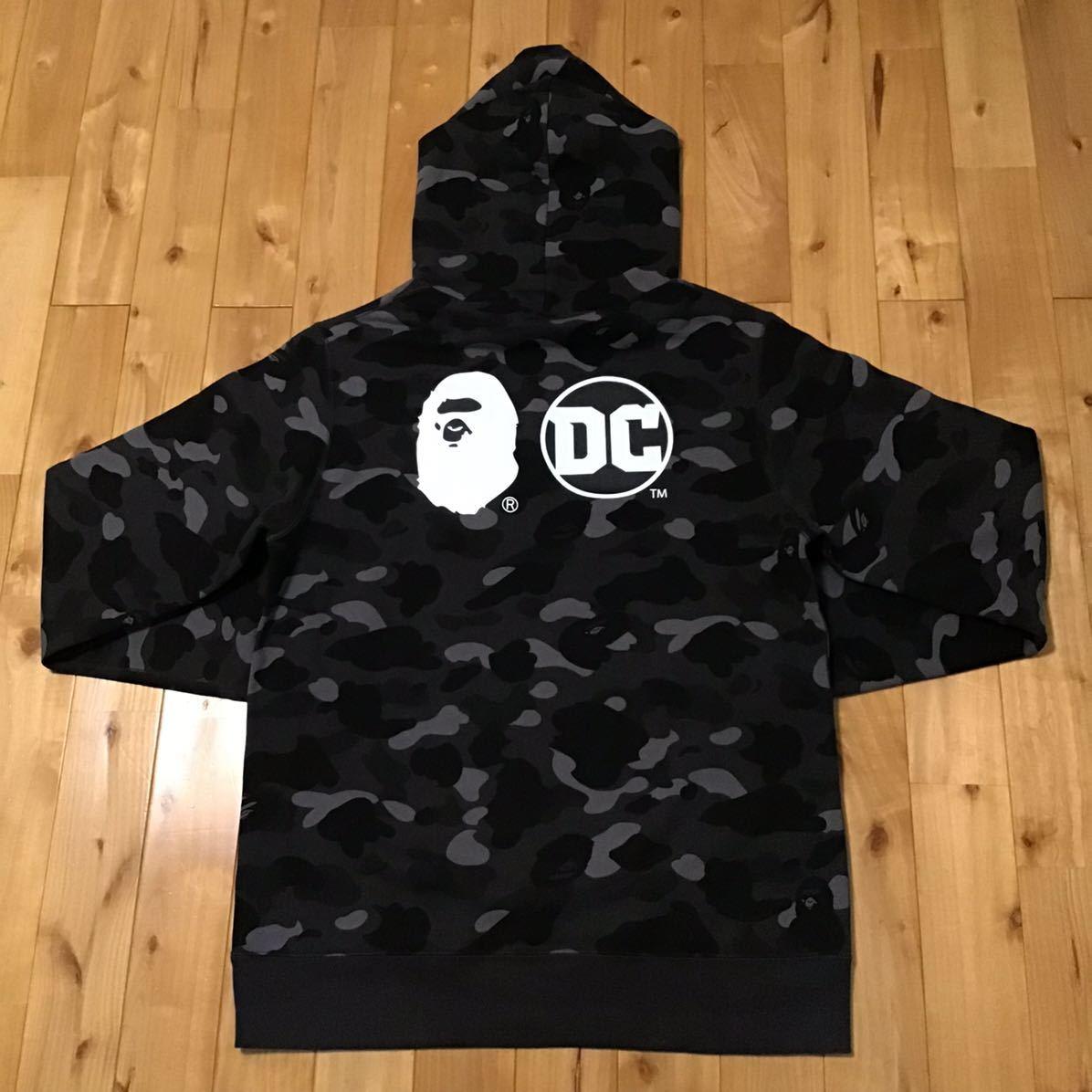★2XL★ DC Comics × BAPE スーパーマン プルオーバー パーカー a bathing ape pullover hoodie superman エイプ ベイプ black camo XXL