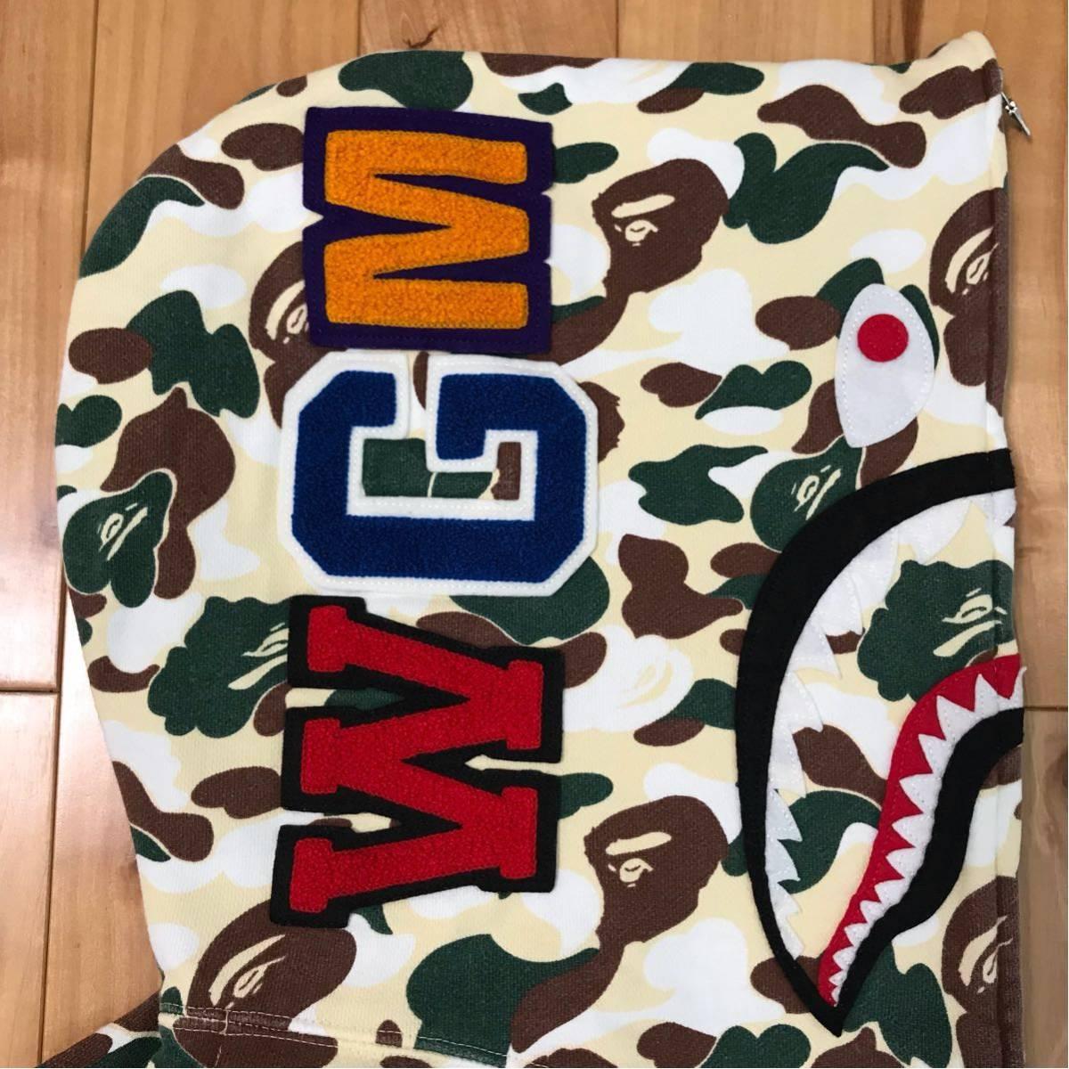 ★鹿児島限定★ kagoshima city camo シャーク パーカー L ape bape shark full zip hoodie エイプ ベイプ アベイシングエイプ 都市限定