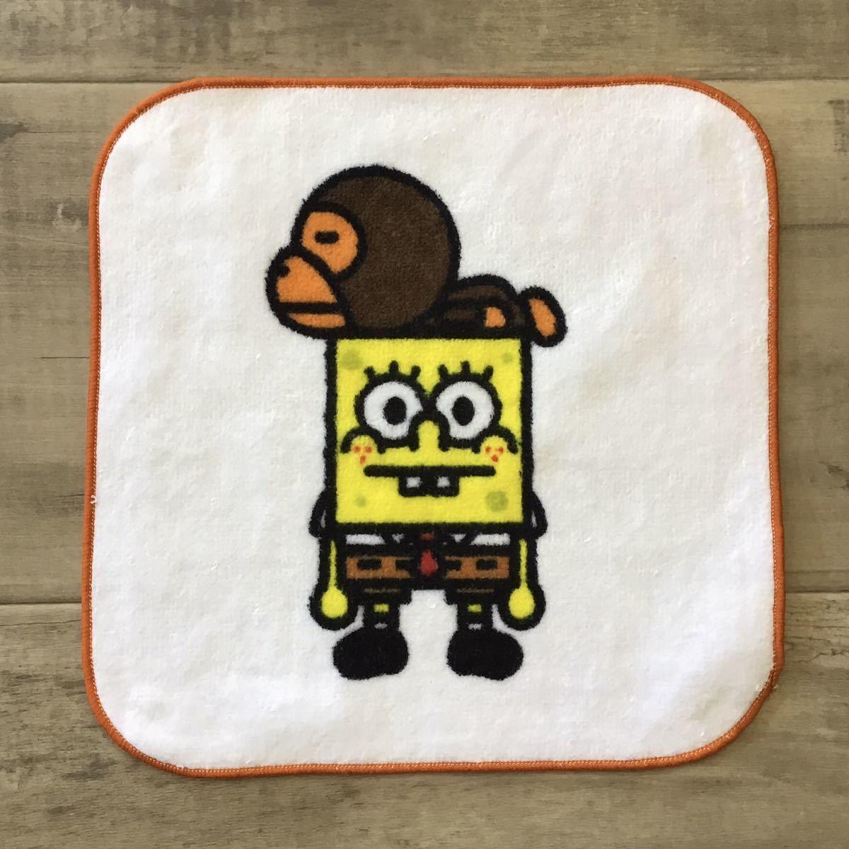 ★新品★ スポンジボブ × BAPE マイロ ハンド タオル a bathing ape baby milo sponge bob エイプ ベイプ アベイシングエイプ towel 124