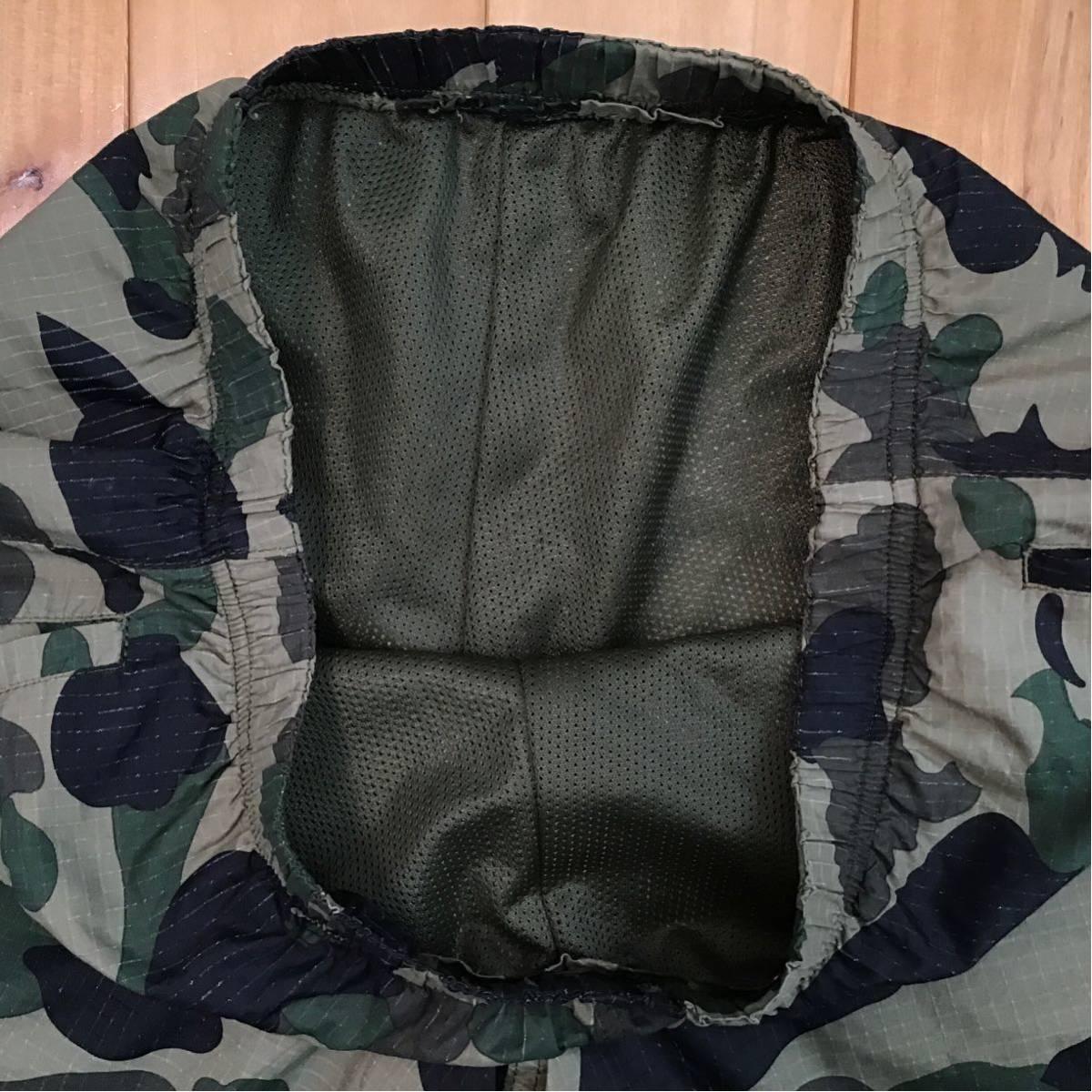 ★初期★ 1st camo green swim shorts Sサイズ a bathing ape BAPE エイプ ベイプ アベイシングエイプ ハーフパンツ 迷彩 beach pants NIGO