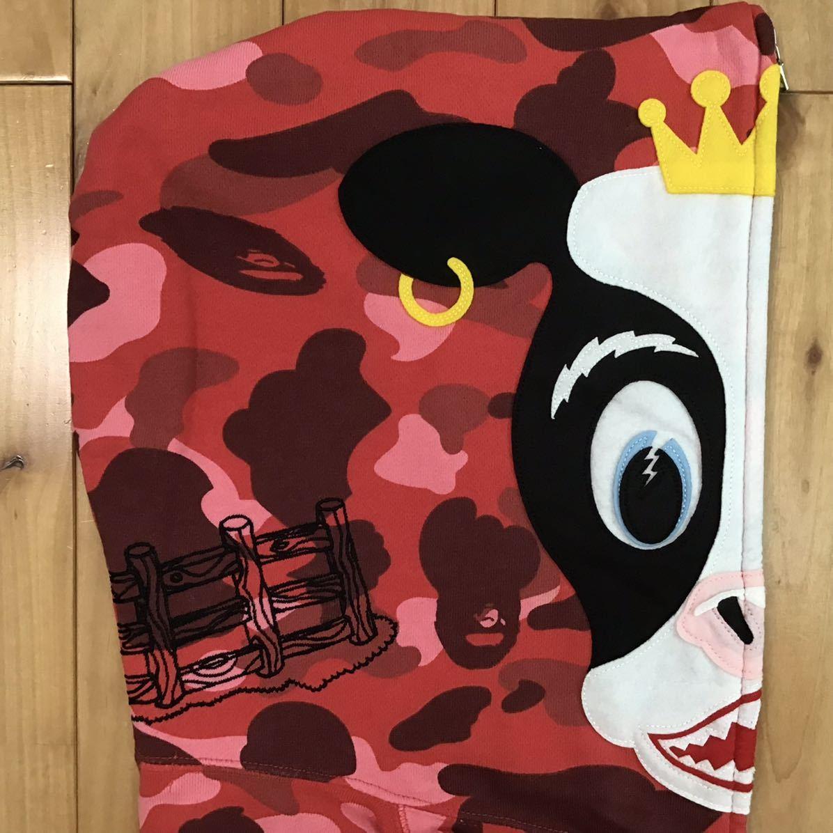 ★NFS限定★ pharrell camo ホルスタイン パーカー Mサイズ Holstein full zip hoodie a bathing ape BAPE エイプ ベイプ red camo 迷彩 53