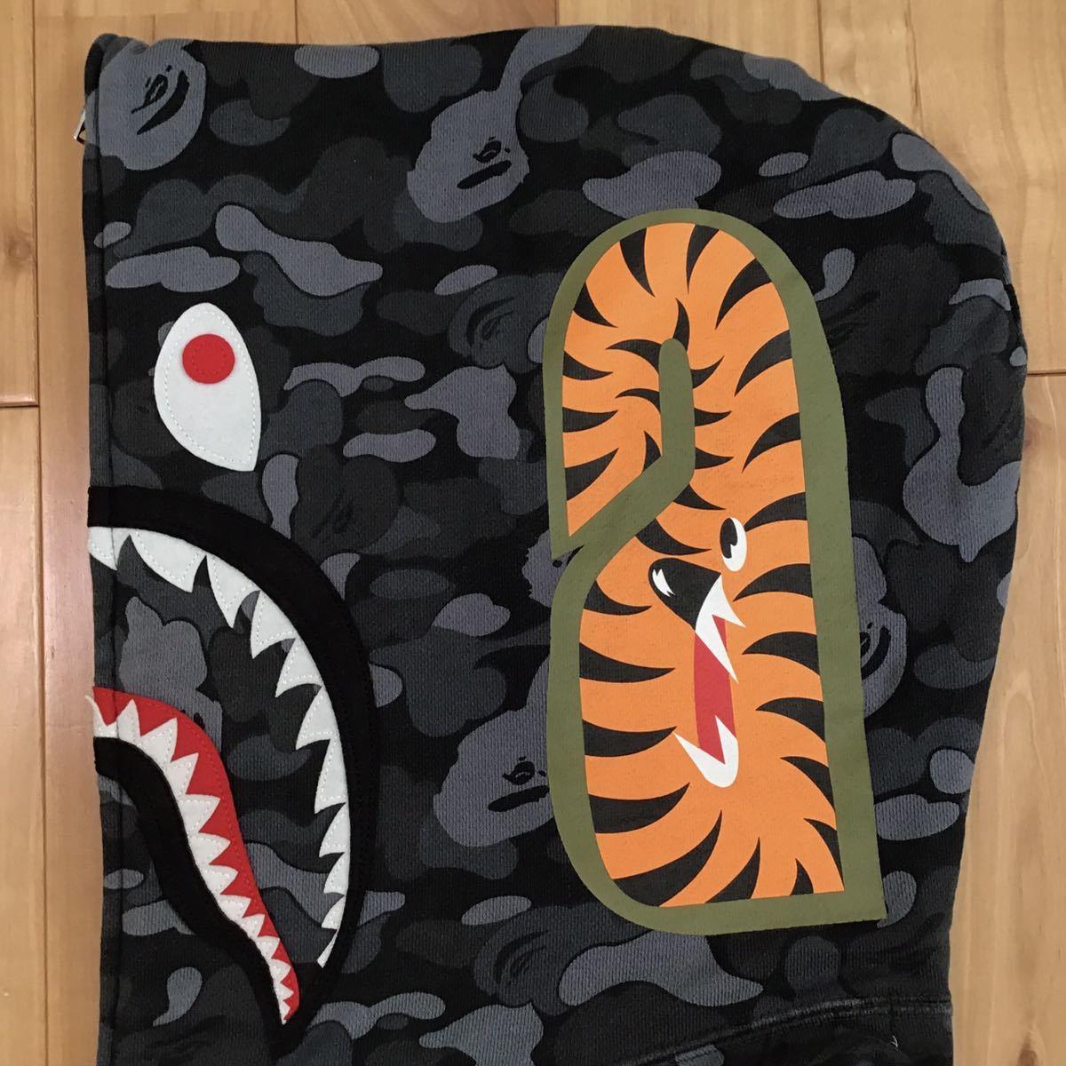 ★青山限定★ aoyama city camo シャーク パーカー Lサイズ shark full zip hoodie a bathing ape BAPE エイプ ベイプ アベイシングエイプ