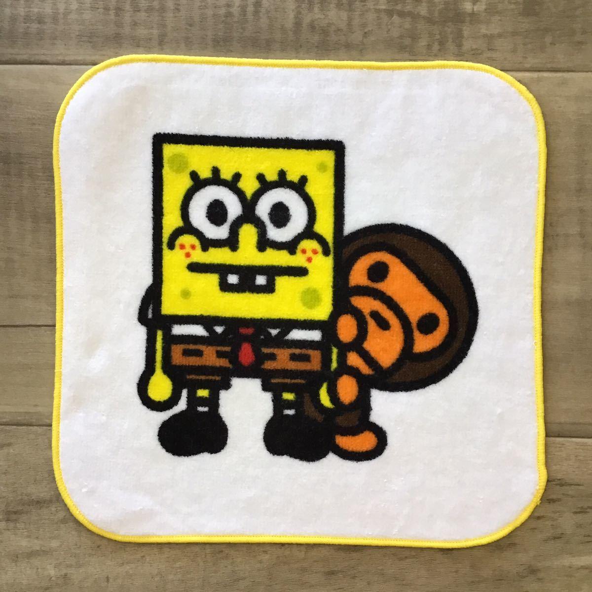 ★新品★ スポンジボブ × BAPE マイロ ハンド タオル a bathing ape baby milo sponge bob エイプ ベイプ アベイシングエイプ towel 325