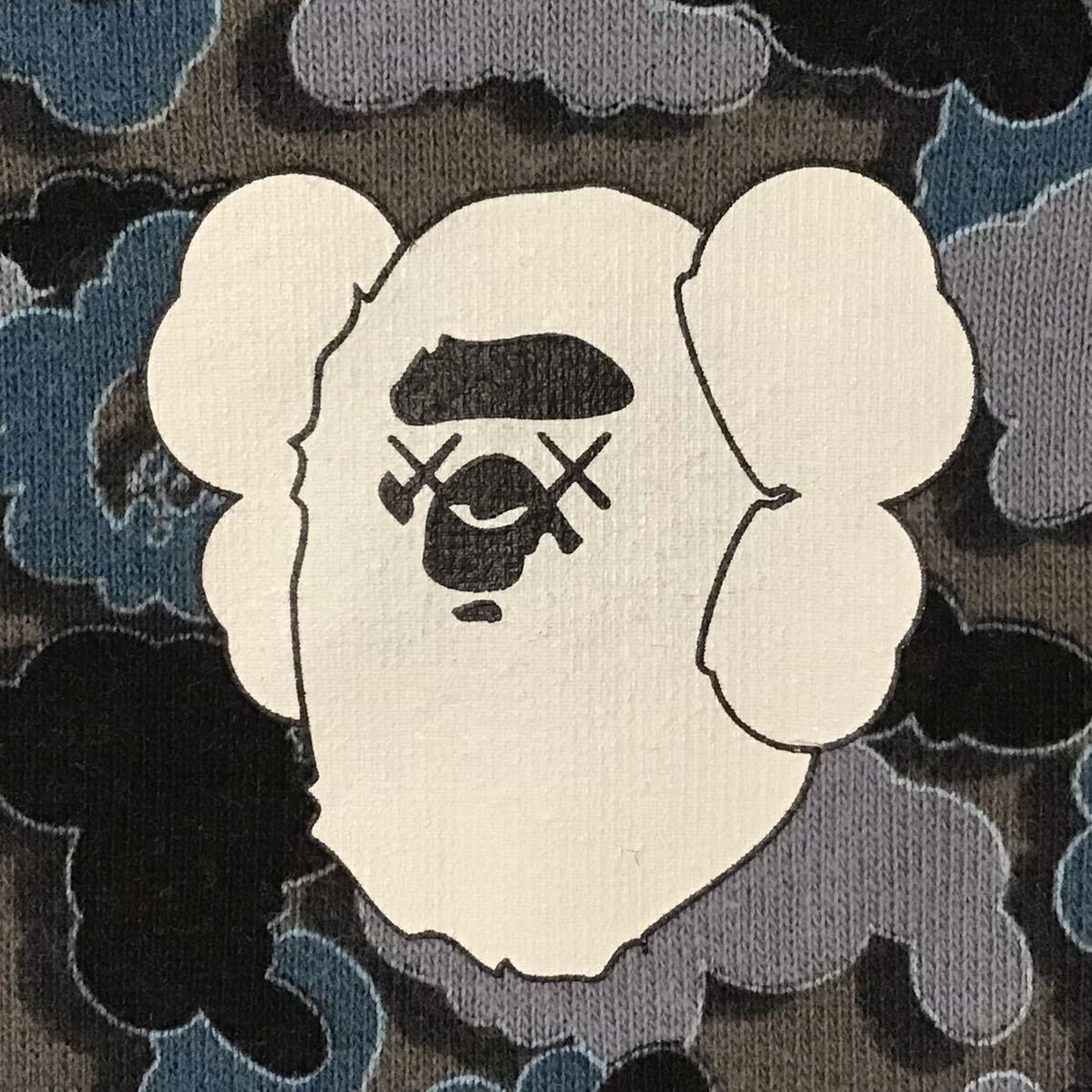 ★リバーシブル★ kaws × bape 長袖スウェット Lサイズ cloud camo a bathing ape reversible sweat エイプ ベイプ カウズ 迷彩 ov8